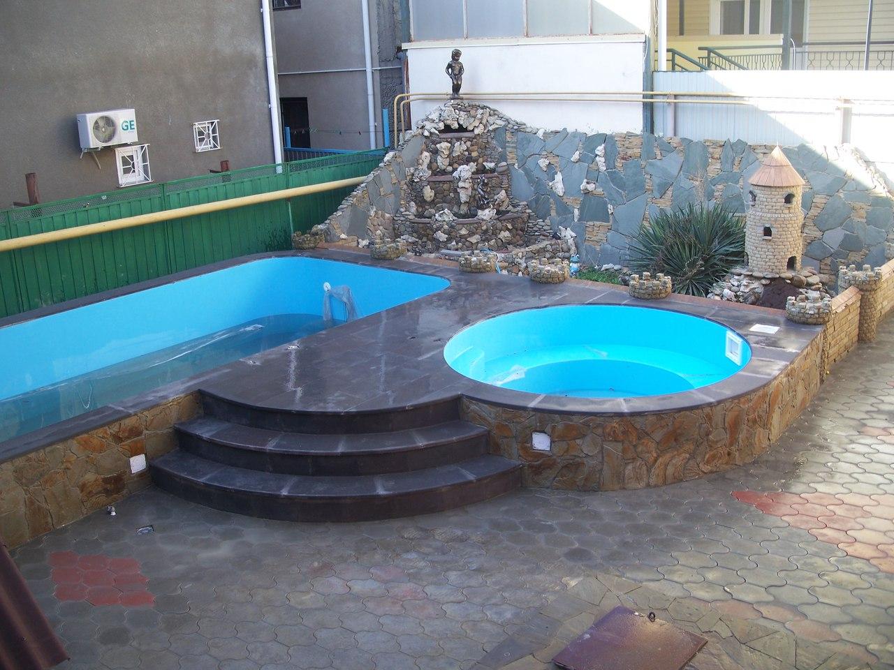 Бассейн в гостевом доме У Вадима